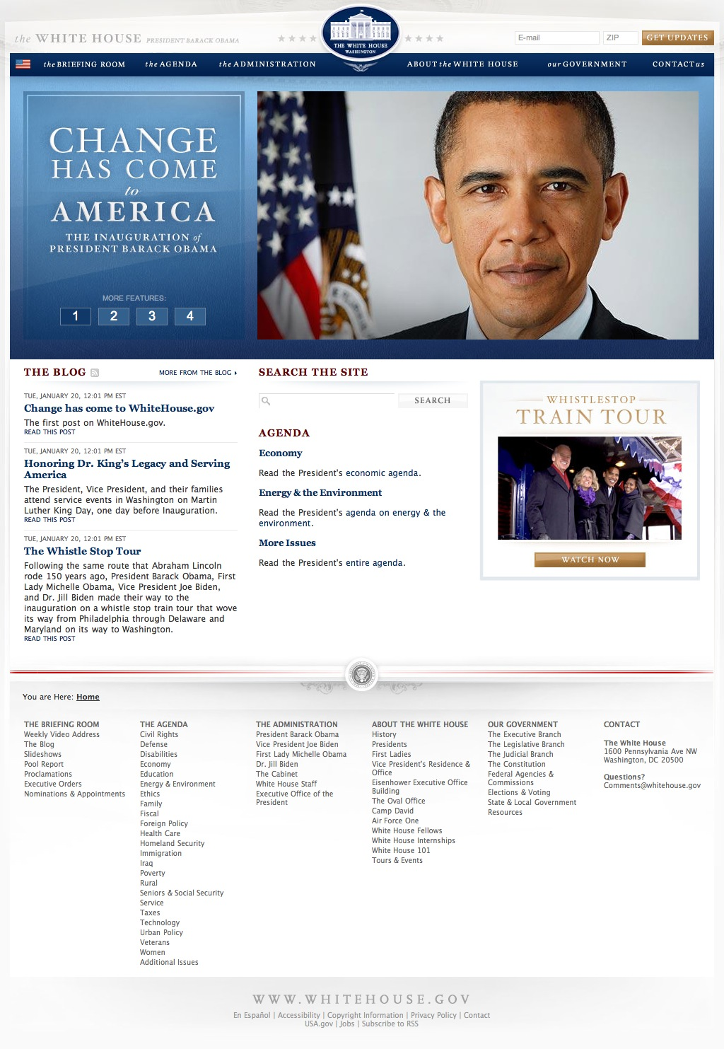 New White House Website